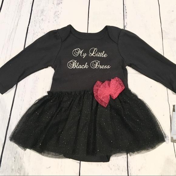 185870140 Vitamins Baby Dresses | Nwt My Little Black Dress Tutu Onesie Dress ...